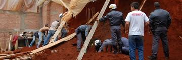 Operário morre soterrado em Bragança Paulista (Fagner Alves/Código19)