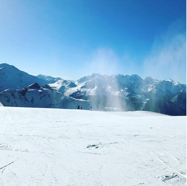 Uma foto de Madonna de férias na Suíça (Foto: Instagram)