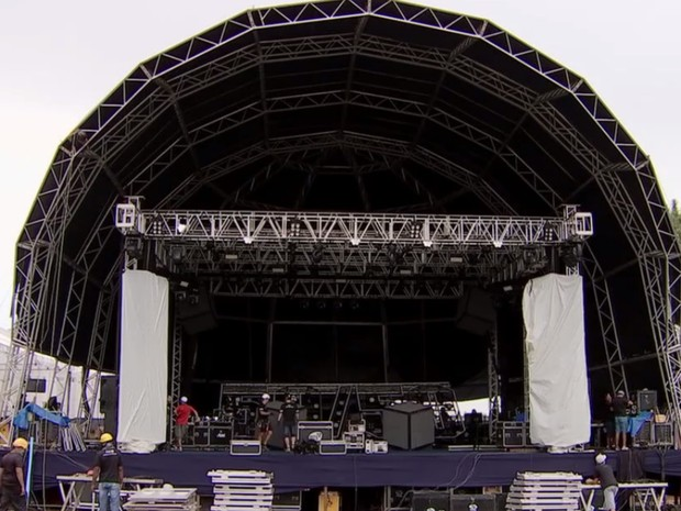 Ano Novo em Goiânia será no estacionamento do Estádio Serra Dourada (Foto: Reprodução/TV Anhanguera)