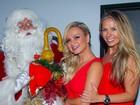 Eliana, Adriane Galisteu, Fernanda Keulla e Luciana Cardoso, mulher de Faustão, vão a festa pré-Natal