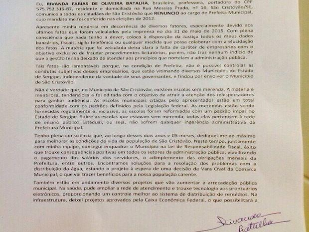 Vice prefeito deve assumir o cargo (Foto: Reprodução/TV Sergipe)