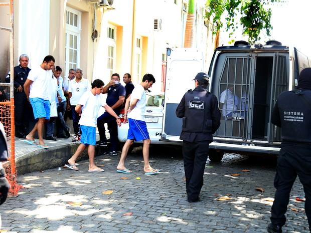 Chefes de facção são transferidos de Alcaçuz para presídios federais, nesta terça-feira (31) (Foto: Frankie Marcone/Futura Press/Estadão Conteúdo)