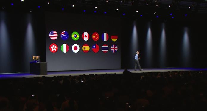 Teclado mais rápido do iOS 8, o QuickType, já estará disponível em português do Brasil (Foto: Reprodução/Apple)