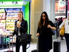 Luiza e Yasmin Brunet embarcam juntas em aeroporto