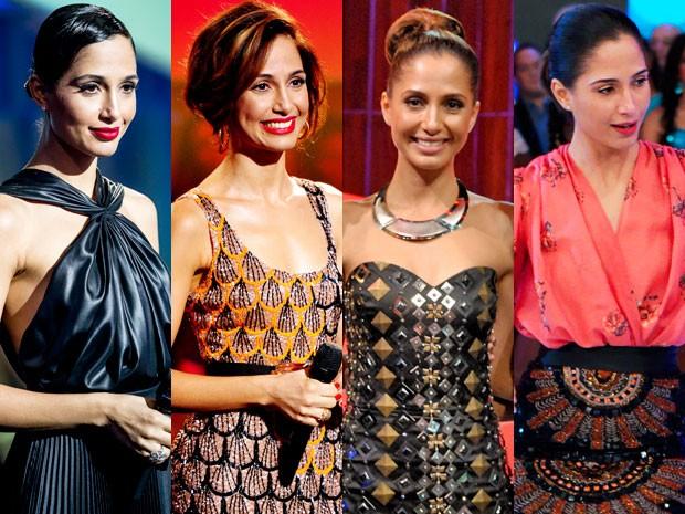 Looks de Camila Pitanga na temporada 2012 do 'Som Brasil' (Foto: Divulgação/TV Globo)