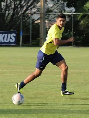 Luan treino Cruzeiro (Foto: Fernando Martins)