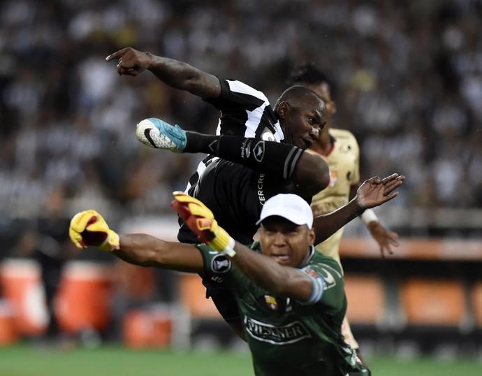 Sassá Botafogo x Barcelona Guayaquil (Foto: André Durão)