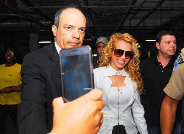 Divorcio de Joelma e Chimbinha no Forum do Recife na manha desta segunda-feira (09). (Foto: Marcelo Loureiro/AgNews)