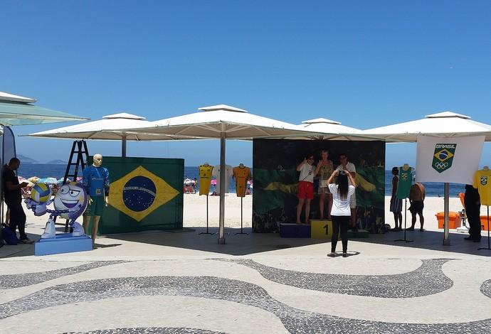 ea0e776ee ... maior evento esportivo do mundo. Quiosque da Globo promove exposição  sobre os Jogos Olímpicos (Foto  Gabriel Macedo)