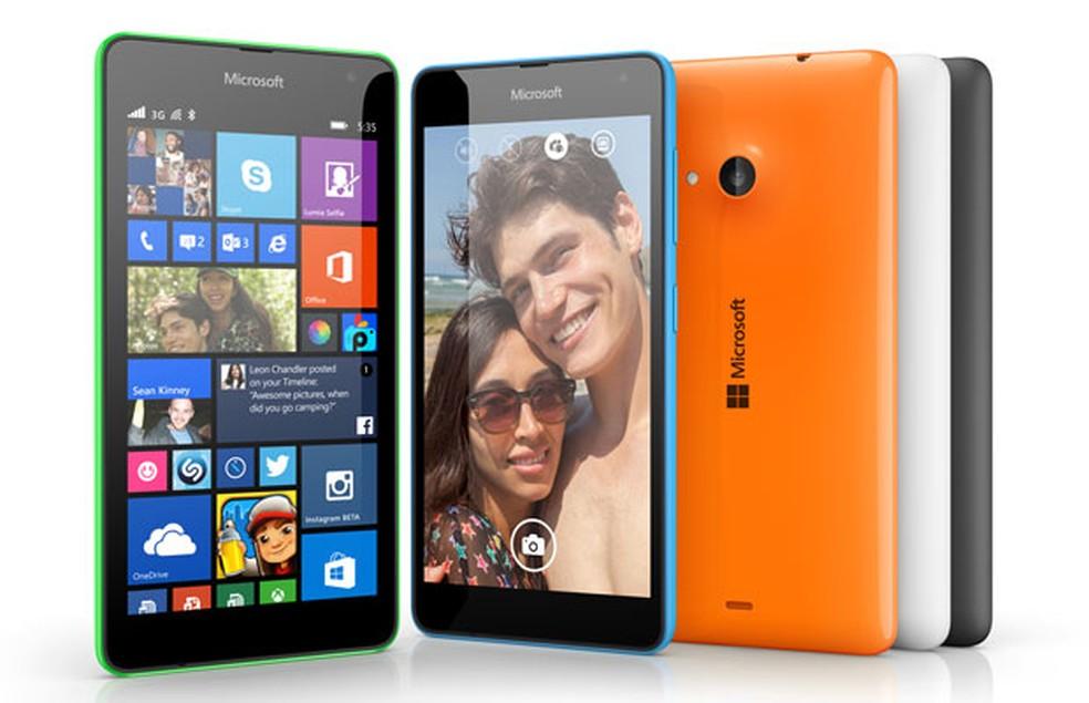 Lumia 535 é um dos smartphones que rodavam o Windows Phone 8.1 (Foto: Divulgação/Microsoft)