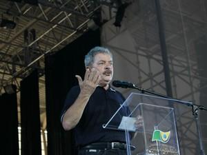 Lula discursa para 1.200 jovens competidores (Foto: Maurício Nascimento)