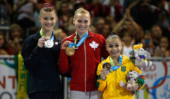 Madison Desch Ellie Black e Flavia Lopes Saraiva Pan-Americano (Foto:  Ezra Shaw/Getty Images)