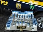 PRF apreende cigarros contrabandeados (PRF/Divulgação)