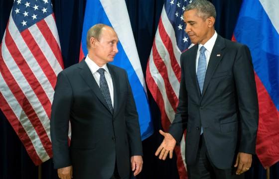 Obama e Putim se reúnem em Assembleia Geral da ONU para discutir conflitos na Síria (Foto: Sergey Guneyev/RIA-Novosti, Kremlin Pool Photo/AP)