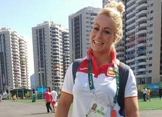 Lidia Valentim - levantadora de peso espanhola (Foto: Martha Esteves/ Globoesporte.com)