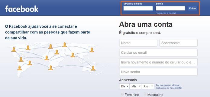 Acesse o Facebook pelo computador usando o Google Chrome (Foto: Reprodução/Barbara Mannara)