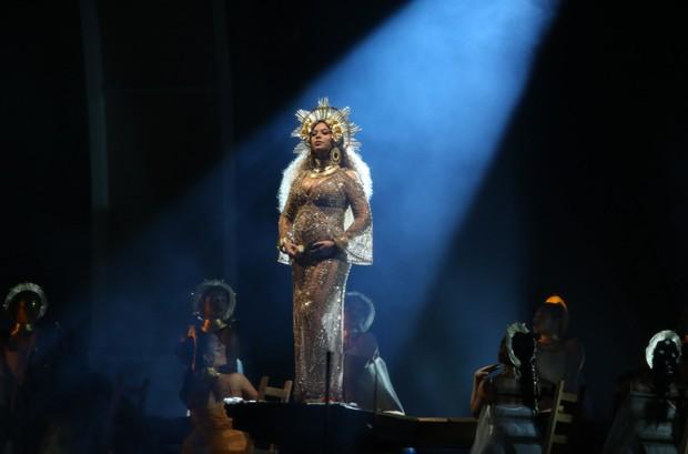 Beyoncé no Grammy (Foto: AFP / Agência)