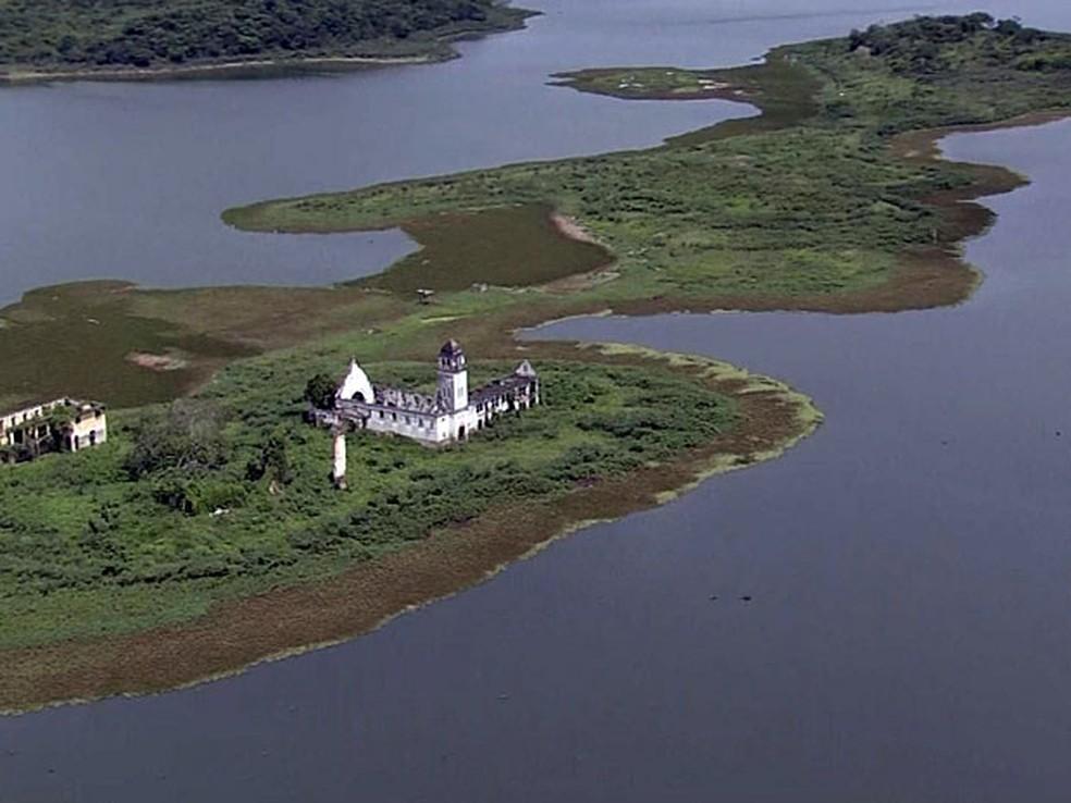 Barragem de Tapacurá teve mais de 9% de aumento da capacidade (Foto: Reprodução / TV Globo)
