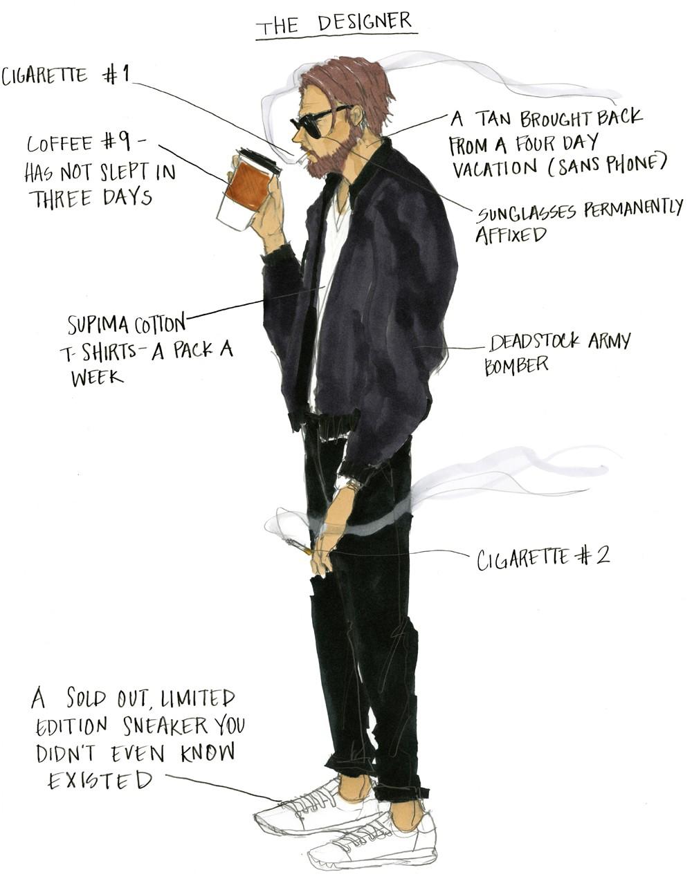"""""""O estilista"""" (Foto: Ilustração Julie Houts/Divulgação)"""