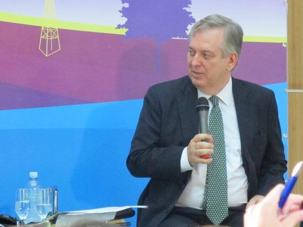 O secretário executivo da Comissão Nacional para a Rio+20, embaixador Luiz Alberto Figueiredo Machado, em evento realizado nesta sexta-feira (11) no Rio de Janeiro. (Foto: Dennis Barbosa/G1)
