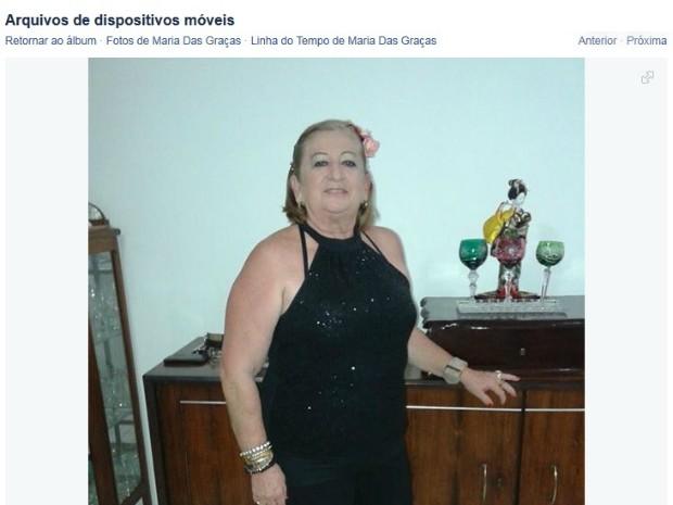 Mulher teve morte encomendada por genro (Foto: Reprodução/Facebook)