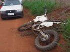 Rapaz morre ao cair com motocicleta na zona rural de Coqueiral, MG