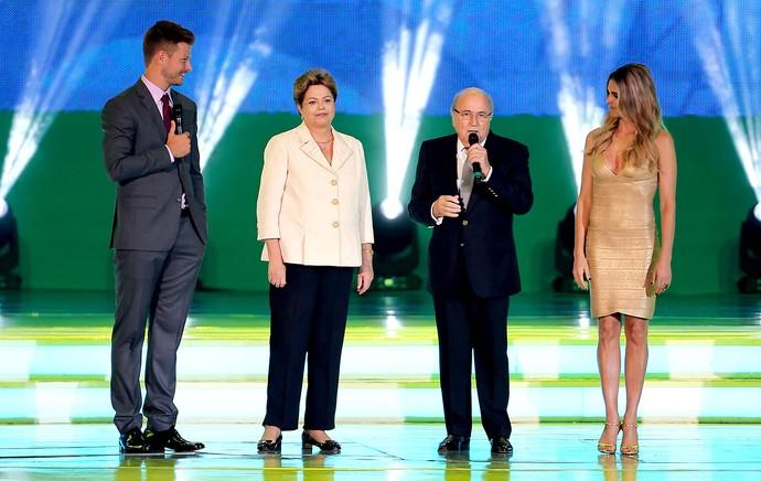 Dilma e Blatter sorteio Copa do Mundo (Foto: Jefferson Bernardes / VIPCOMM)