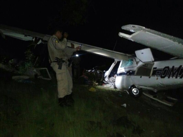 Avião monomotor caiu em Palmas e causou a morte de três pessoas (Foto: Polícia Militar do Tocantins/Divulgação)