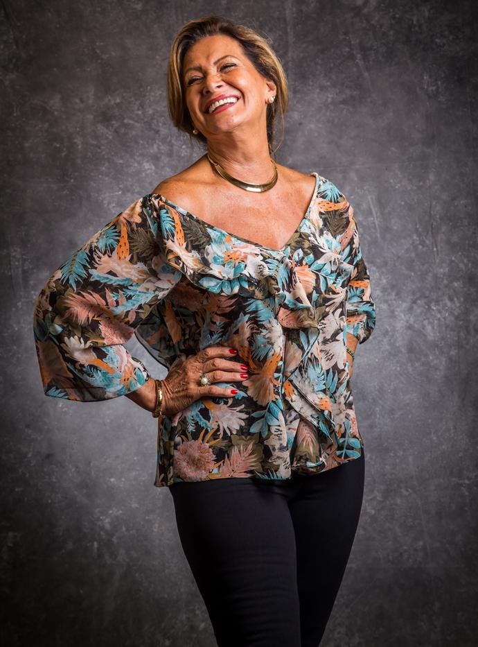 Ieda tem 70 anos e já foi Miss de Canoas (Foto: Paulo Belote/TV Globo)