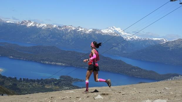 k42 Villa Iangostura, Cerro Bayo, eu atleta (Foto: Carla Gomes)