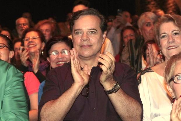 Diogo Vilela no show de Caby Peixoto, no Rio (Foto: Isac Luz/EGO)