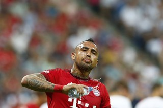 Vidal Bayern de Munique x Real Madrid (Foto: Reuters)