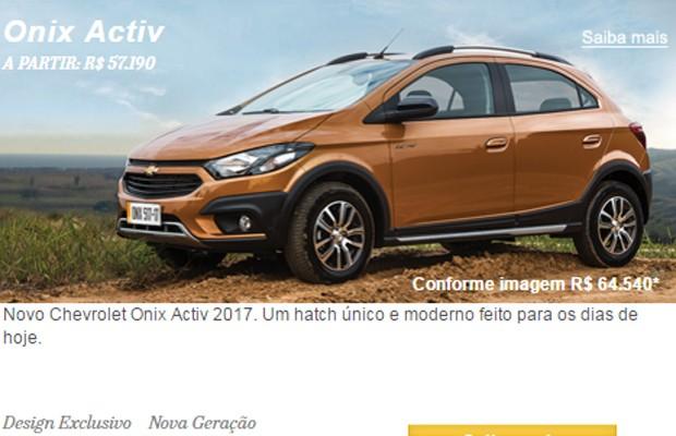 Chevrolet Onix Activ (Foto: Reprodução)