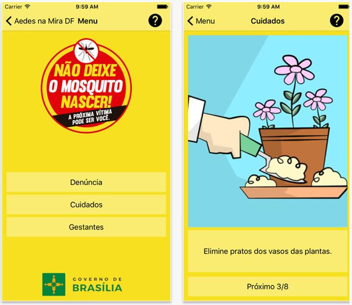 Seu objetivo é colaborar para evitar o aumento do número de casos de dengue (Foto: Divulgação/App Store)