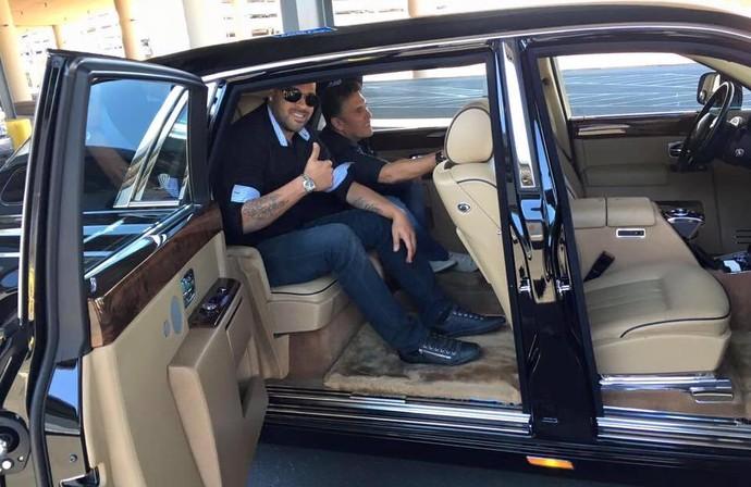 Adriano desembarque Las Vegas Miami (Foto: Divulgação/Miami United)