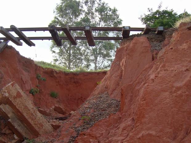 Registro de 2010 reforça a desativação da ferrovia na região (Foto: Arquivo MPF/Cedida)