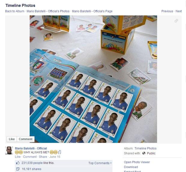 Balotelli (Foto: Reprodução/Facebook)