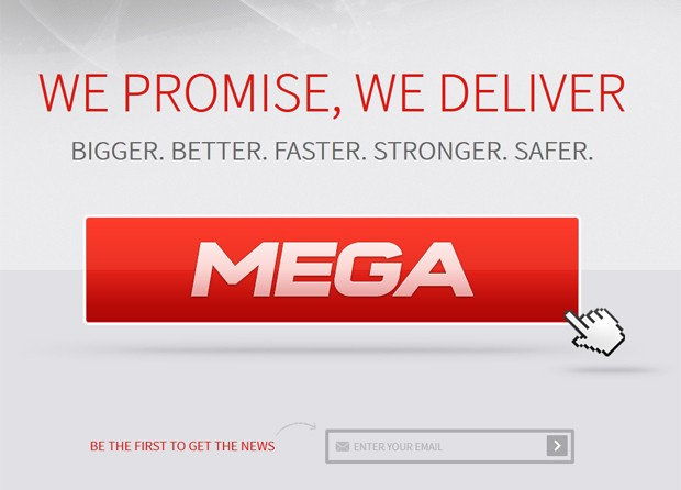 Mega, novo site de Kim Dotcom (Foto: Reprodução)