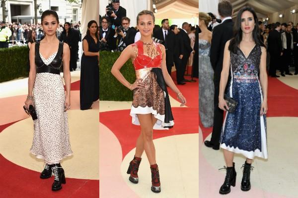 Selena Gomez, Alicia Vikander e Jennifer Connelly no baile do MET (Foto: Getty Images)