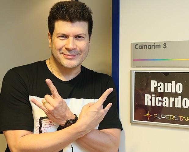 Paulo Ricardo é admirado pelos colegas Sandy e Thiaguinho (Foto: Fabiano Battaglin / Gshow)