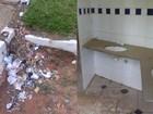 Lixo, banheiros sujos e brinquedos enferrujados em praça geram queixas