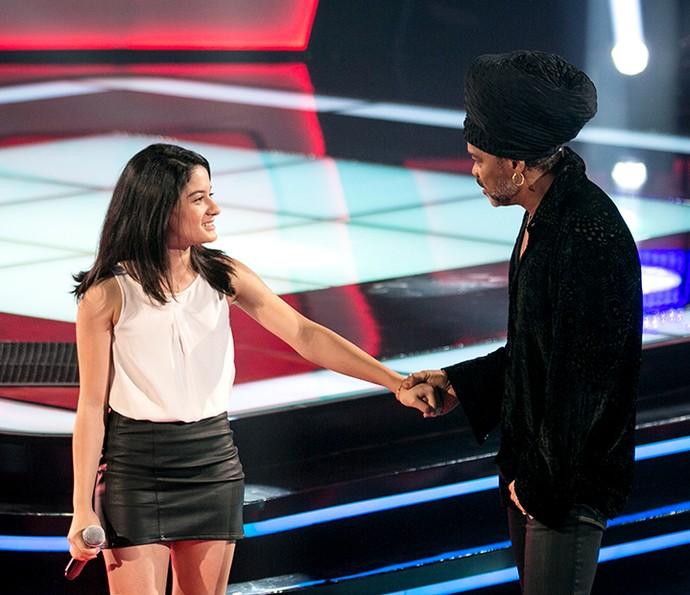 Clara Lima ficou em dúvida, mas acabou escolhendo Brown como técnico (Foto: Isabella Pinheiro/Gshow)
