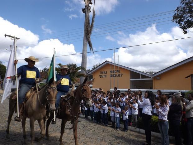 Cavaleiros da Cultura em São João Nepomuceno (Foto: Fellype Alberto/Divulgação)