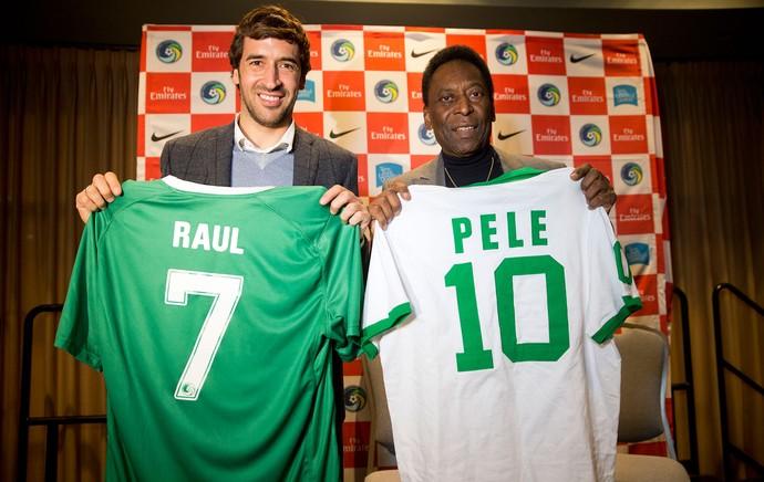 Raul e Pelé, convenção NSCAA  (Foto: Agência AP )