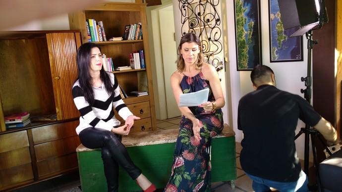 Camille Reis conversou com coach no programa (Foto: RBS TV/Divulgação )