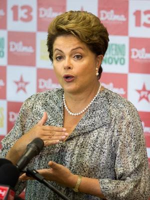 Dilma Rousseff durante entrevista em hotel no Rio de Janeiro (Foto: Gustavo Serebrenick/Brazil Photo Press/Estadão Conteúdo)
