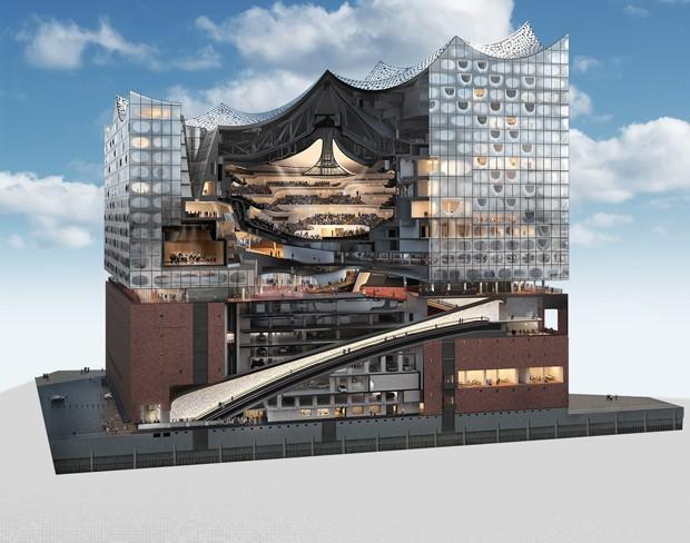 Centro cultural em Hamburgo é um grande (e magnífico) castelo de vidro (Foto: Reprodução)