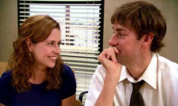 Pam e Jim, casal da série The Office  (Foto: Reprodução)