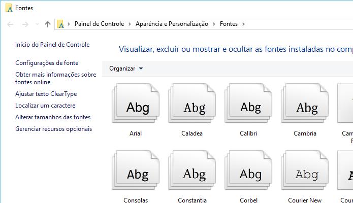 Copie e cole as fontes que você quer instalar (Foto: Reprodução/Helito Bijora)