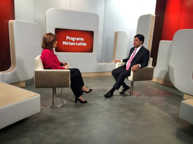 Miriam Leitão entrevista o ministro da Educação, José Mendonça Filho (Foto: Pedro Rabello/G1)